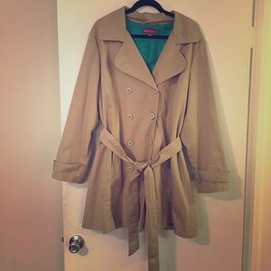 Beautiful Merona Plus Size Tan Trench Coat 20/22W